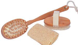 KINGSLEY BB-200 Three Piece Bath & Shower Combo Set - Brush, Scrubber, Massager