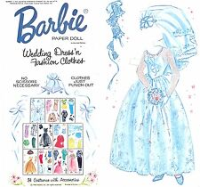 Vintge 1964 Barbie Wedding N DresseS Paper Doll ~ Rare~ Uncut Laser Reproduction