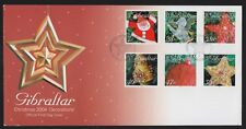 Gibraltar 2004 FDC Christmas Issue - Christmas Decorations