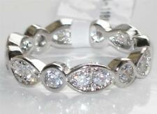 Cubic Zirconia White Gold Plated Band Round Costume Rings