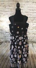 Studio I Women's Black, Yellow, Gray Polkadot Dress, Size: 6 Petite.