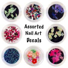 Assorted nail art 3D decals-Rhinestones- Caviar, Bows, Roses & Crushed Shells,