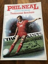 More details for liverpool signed best wishes phil neal testimonial brochure rare lfc look