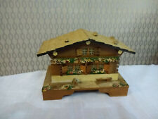 Old Wood Wooden Music Box Small House Shape