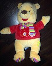 Nicotoy C&A Winnie Pooh Teddybär Gelb Rot Schal Kuscheltier Plüschtier Stofftier
