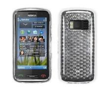 Housse Etui Coque Silicone Gel Blanc Diamand ~ Nokia C6-01