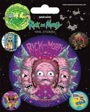 Vinyl Sticker / Aufkleber-Set RICK & MORTY - Psychedelic Vision 1x7,5 4x2cm 7372
