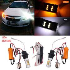 2x 1156 42Led Amber Dual Color Switchback LED Reverse DRL Turn Signal Light Bulb