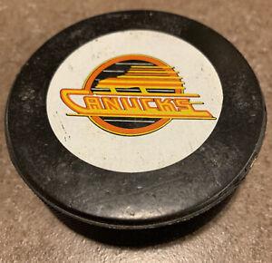 1983 Vancouver Canucks Official Inglasco NHL Game Puck Vintage