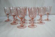 12 verres torsadés Luminarc, rose, hauteur 10 cm
