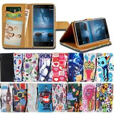 For Various Nokia Lumia SmartPhones - Leather Smart Stand Wallet Cover Case