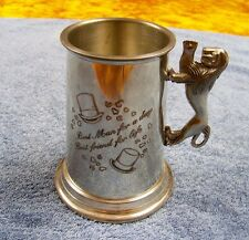 "Fine English Pewter ""Best Man"" Wedding Tankard Made in Sheffield England"
