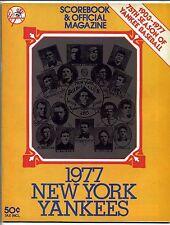 1977 New York Yankees vs Texas Rangers Scorebook & Official Magazine