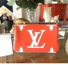 NWT! Authentic Louis Vuitton Pochette Double Zip Giant Monogram - Red/Pink