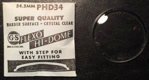 GS - PHD - Flexo Hi-Dome -  Vintage Watch Crystals - Various Sizes