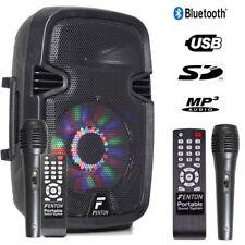 "Mobile Akku Box Sound Anlage ""FT8LED"" Mit Mikrofon, LED, SD USB MP3, Bluetooth!"