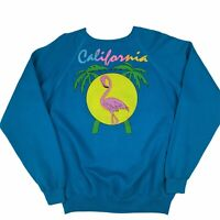 Vintage California XL Hanes Sweatshirt Jumper Flamingo 80s Raglan USA 46 48