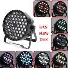 8Pcs Rgbw Dmx512 Led Stage Lighting Lamp Dmx512 Dj Bar Disco Wedding Party Light