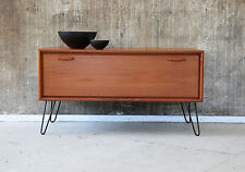 60er TEAK comò TV HIFI RACK 60s Teakwood Cabinet MEDIA BOARD credenza