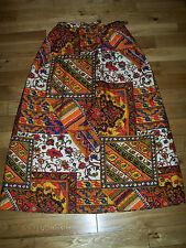VTG 70's ALEX COLEMAN Quilted Maxi Skirt Mod Hippie Boho festival Small Medium