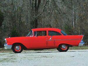 1957 Chevy 150 2 Door Sedan Quarter Panel and Door Stainless New Sedan
