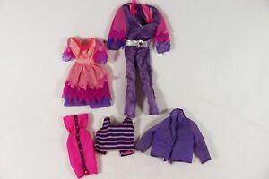 Vintage Barbie Doll Donny & Marie Osmond Purple Outfits Jumpsuit Dress Ken Shirt