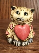 "Harmony Kingdom Pot Bellys ""Valentino"" February Calendar Cat Figurine Rare 2001"