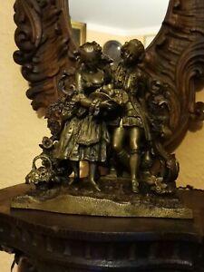Bronze Skulptur Allegorie Liebe Mann & Frau um 1840/50 Figur Pastorale Bukolik