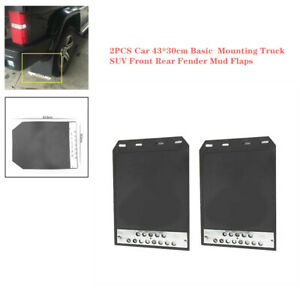 2PCS Car Front+ Rear Fender Mud Flaps Universal for Basic  Mounting Truck SUV