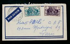 FRENCH CAMEROON WW2 MILITARY CENSOR AIRMAIL...ELEPHANTS UNCANCELLED