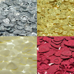 Foil Hearts Table Scatter Confetti, Choice of Sizes & Colours