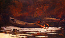 Hound and Hunter by Winslow Homer 75cm x 44.2cm Canvas Art Print Wall Art