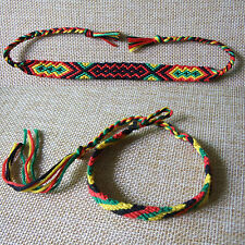 Rasta Friendship Wristband Bracelet Cotton Reggae Jamaica Surfer Hippy Boho New