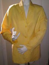 Adolfo Studio Size 8 Yellow Linen Blend Jacket