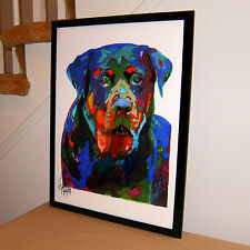 Rottweiler, Rott, Rottie, Guard Dog, Police Dog, Pet, Germany 18x24 POSTER w/COA