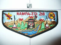 OA Nampa Tsi Lodge 216 S-1b,1970s,1st Solid Flap,BLK BMT,426,Great Rivers Cnl,MO