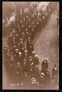 1905 ILFRACOMBE MENS MARCH CHURCH HILL REAL PHOTO POSTCARD NORTH DEVON PHILLIPSE