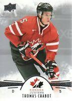 2016-17 Upper Deck Team Canada Juniors Hockey Card #29 Thomas Chabot