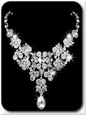 Halskette Gliederkette Spikekette Statementkette Versilbert Kristall Hochzeit