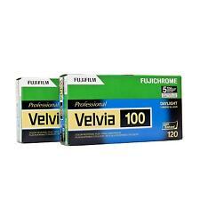 10x Fuji Velvia RVP 100 120 Rollfilm Fujifilm RVP100 Diafilm