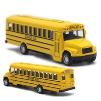 """Yellow School Bus Alloy Diecast Pull Back Drives 5.5"""" Kids Action Car Toy Gift"""