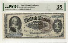 1886 $1 SILVER CERT. MARTHA ~ FR#219 ~ FRESH NEW GENERATION HOLDER ~ PMG VF35!