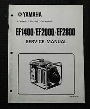 Genuine Yamaha Ef1400 Ef2000 Ef2800 Generator Service Repair Shop Manual Portabl
