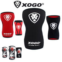 XOGO Knee Sleeves Support Crossfit Power Weight Lifting Squats Brace 5mm PAIR