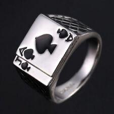 hombre moderno poker as de picas acero inoxidable Anillo Fashion Jewelry Regalo