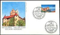 BRD 1988: Meersburg! FDC der Nr. 1376 mit sauberen Bonner Sonderstempeln! 1909