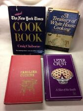 Lot of 4 Cook Books WHITE HOUSE COOKING New York Times CAROLINA Tennessee