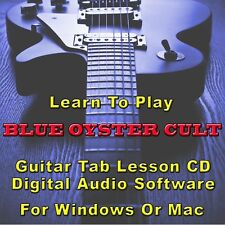 BLUE OYSTER CULT Guitar Tab Lesson CD Software - 12 Songs