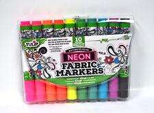 Tulip Brush Tip Neon Fabric Markers 10 Pack