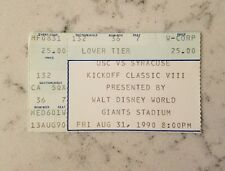 USC Trojans Syracuse Football Ticket Stub 8/31 1990 Kickoff Classic Southern Cal